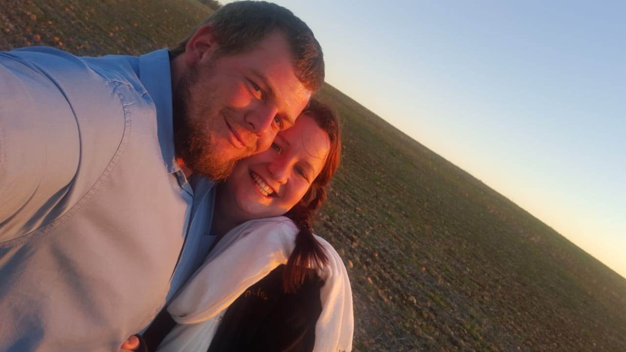 Garhard Van Der Westhuizen with his wife